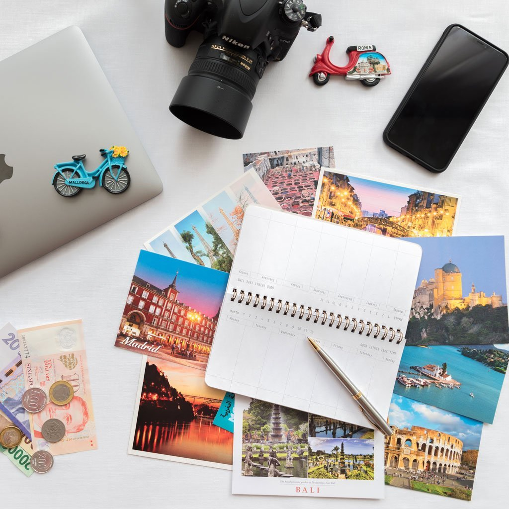 Postcards, Macbook Pro, Camera, iPhone XS Max and travel tips from We Collect Postcards blog