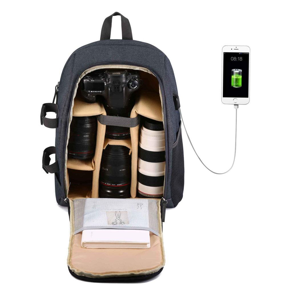 Selighting gear backpack for photographers