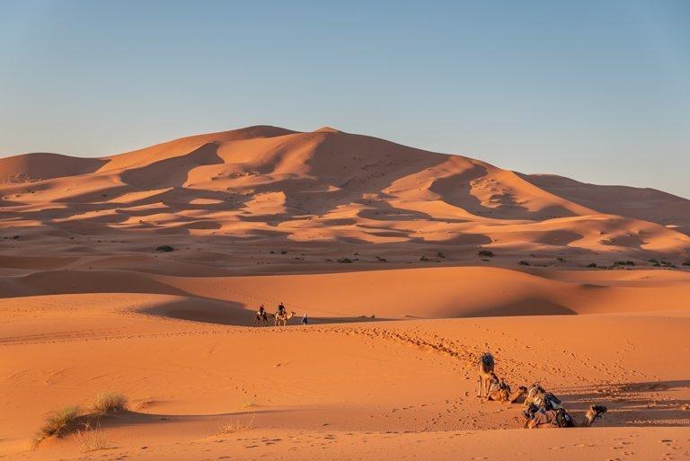Ruta de camellos en Merzouga - Sahara