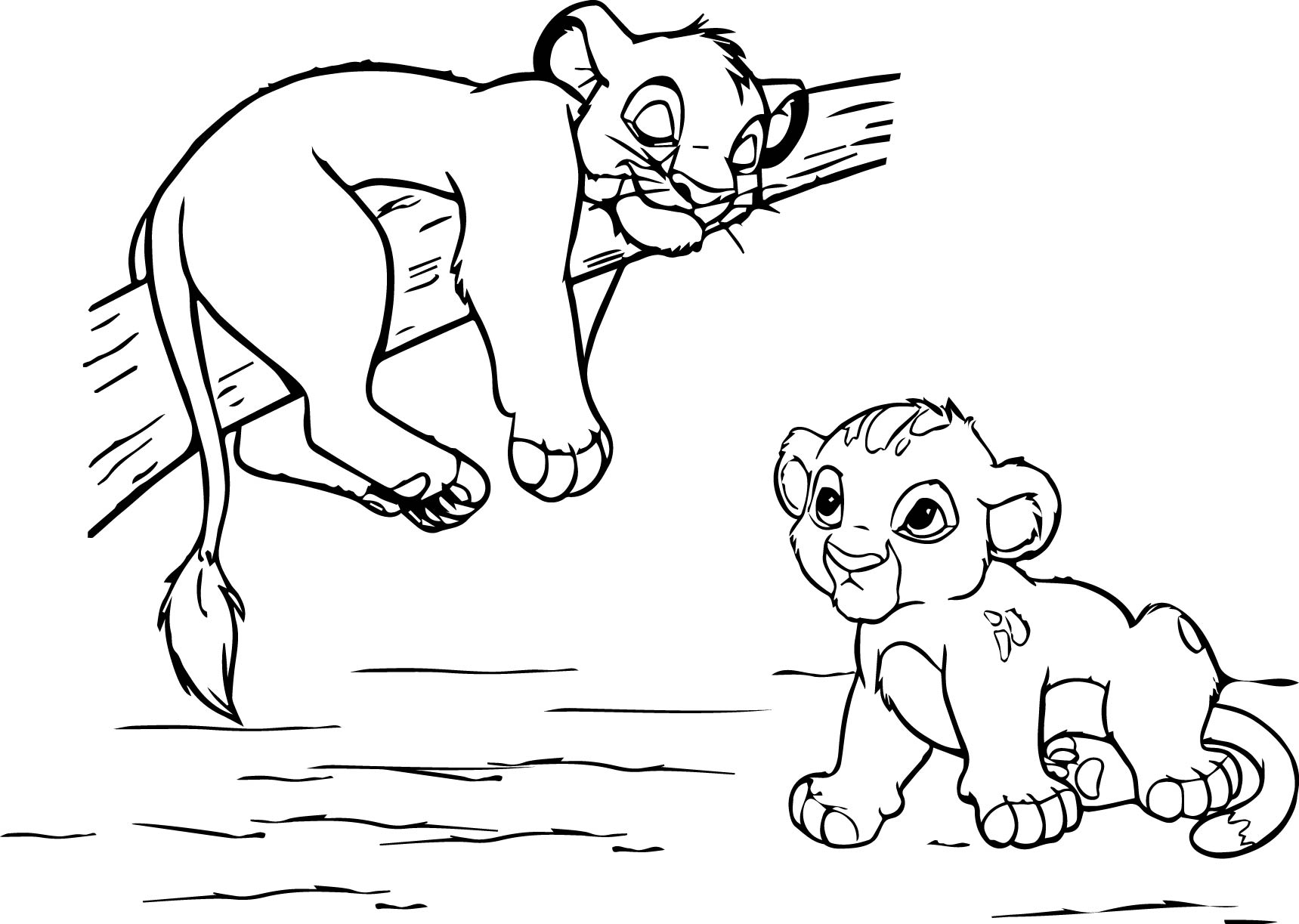 Lion King Coloring Page Wecoloringpage