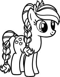 Pony Cartoon My Little Pony Coloring Pages ...