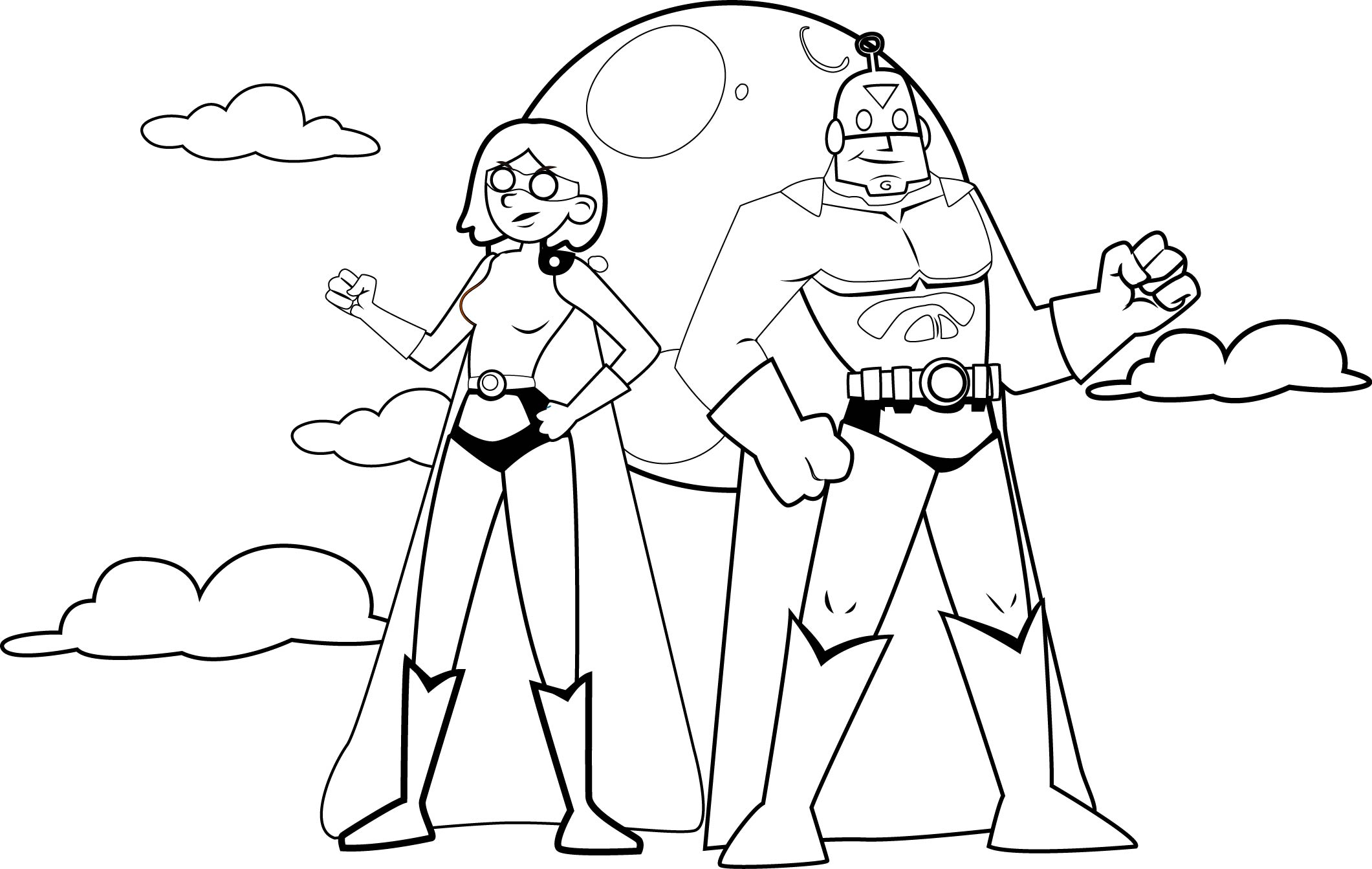 Team Superhero Coloring Pages Sketch Coloring Page