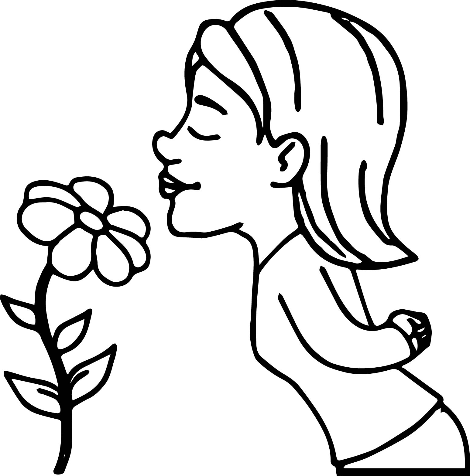 Flower Girl Coloring Book Pages | Flower Coloring Pages For Teens ...