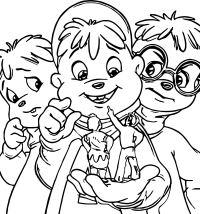 Malvorlagen Chipmunks Alvin And The Chipmunks Coloring