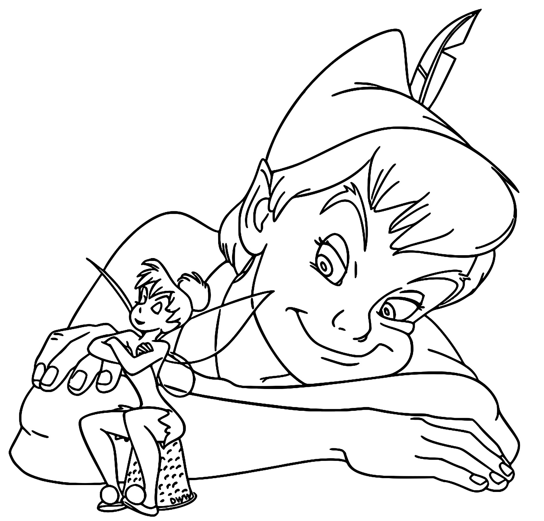 Tinkerbell And Peter Pan Coloring Pages To Print