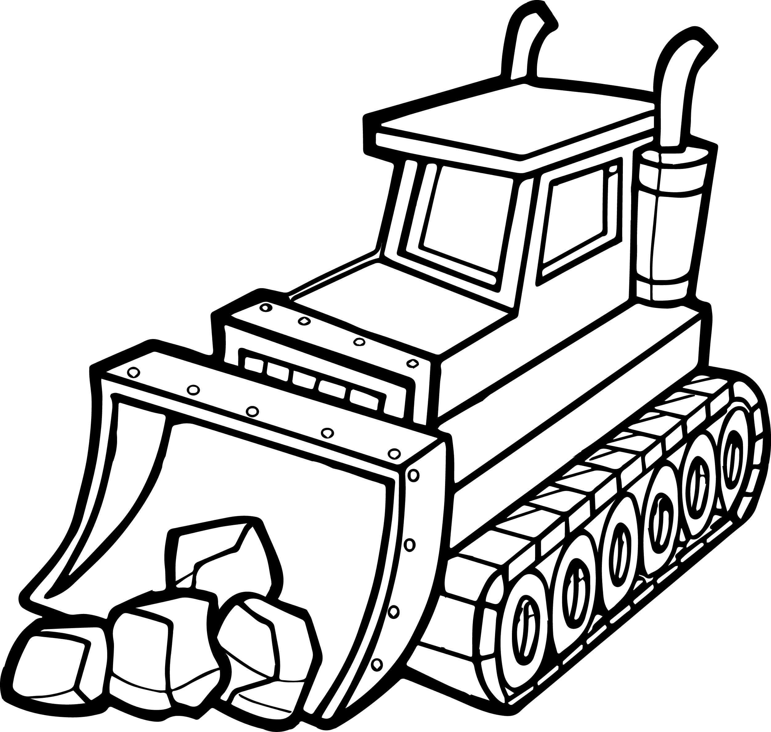Bulldozer Coloring Coloring Pages