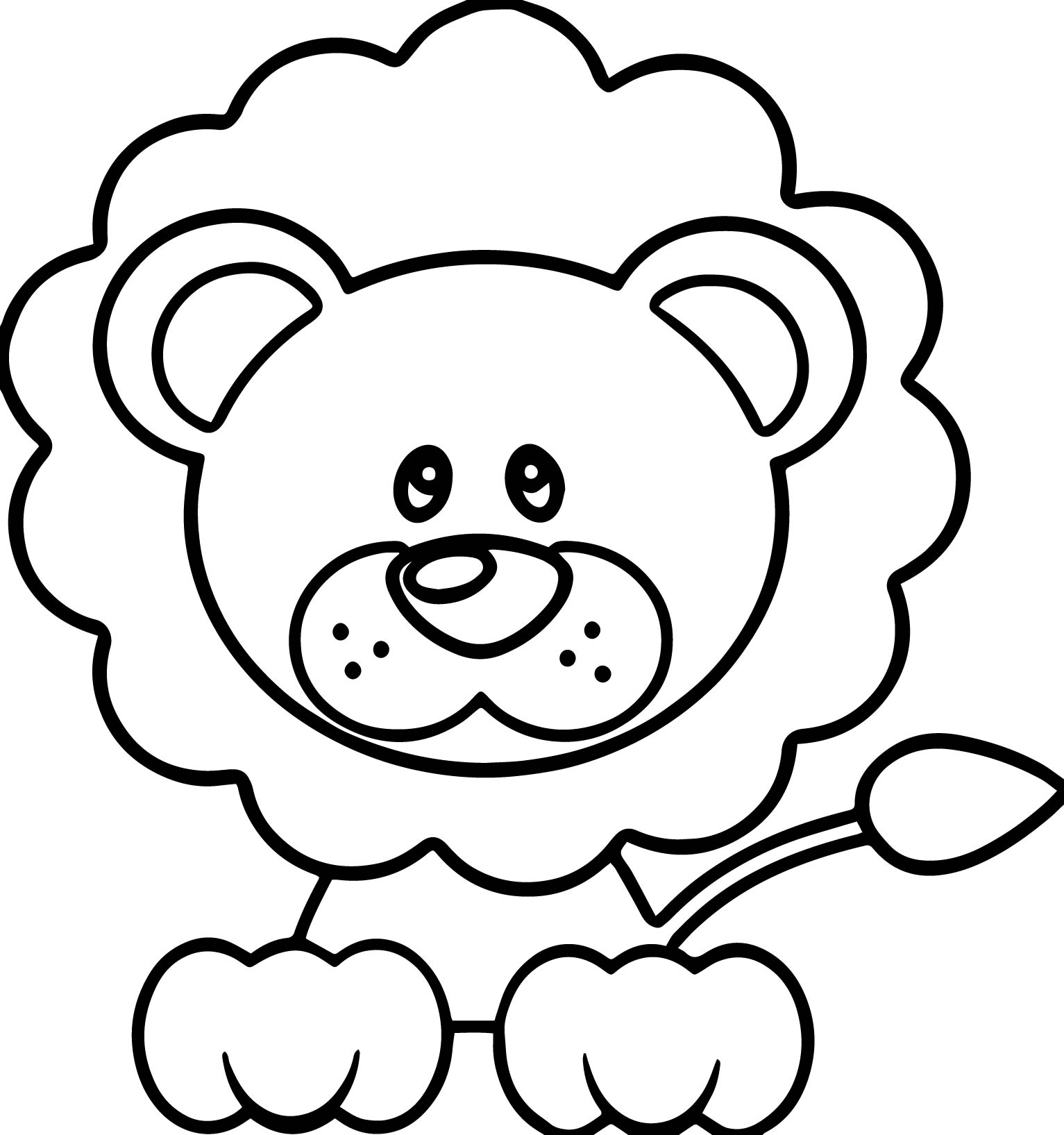 A Image Of A Lion And Lamb Coloring