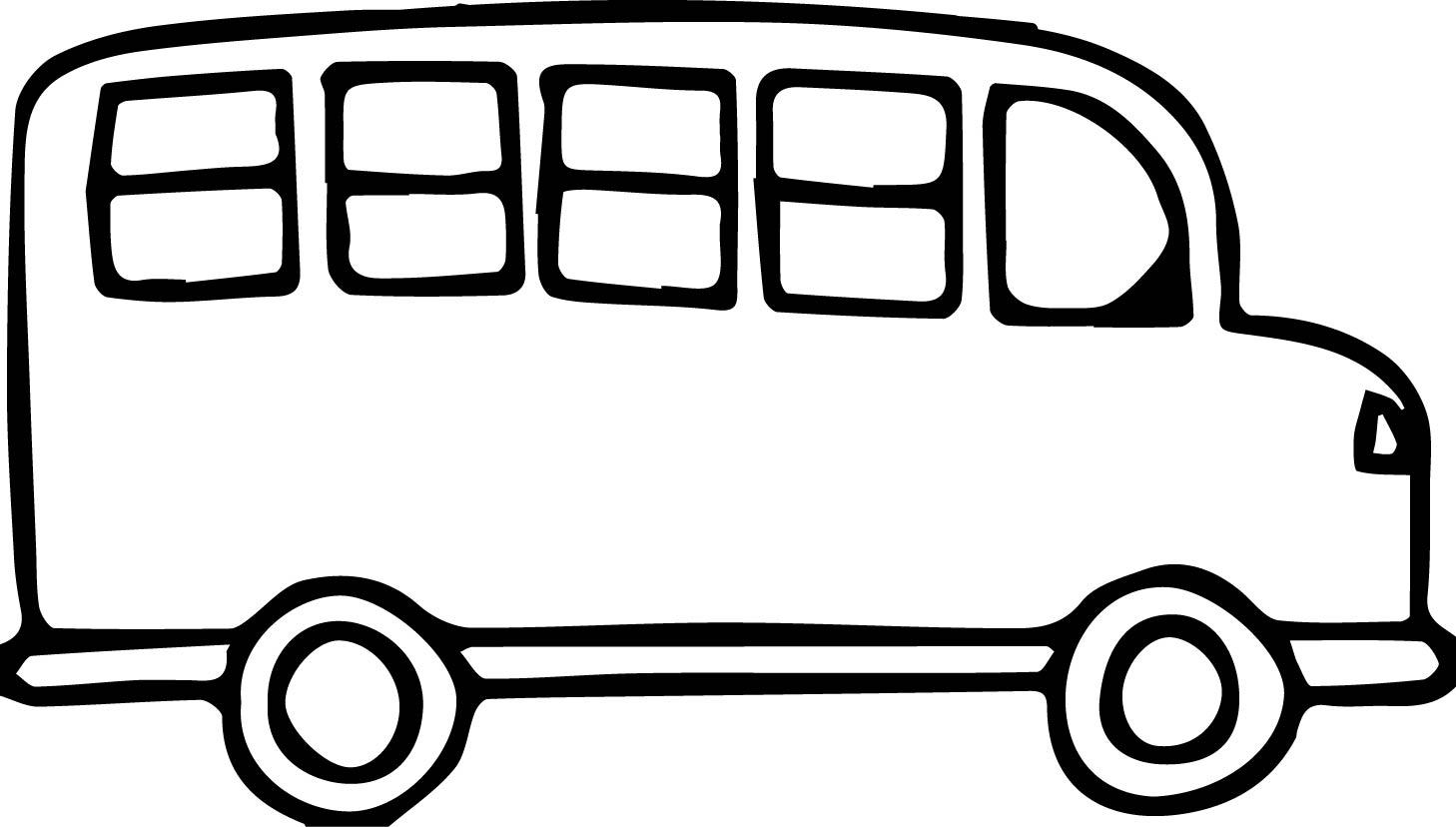 Church Van Black And White Transportation Bus Coloring