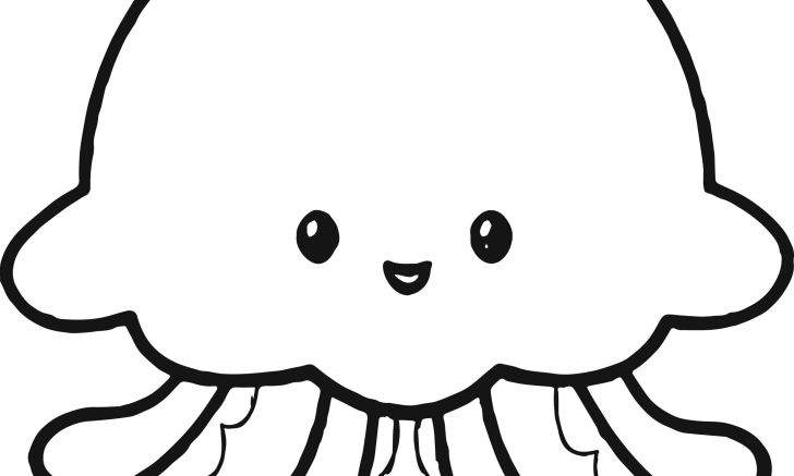 Cute jellyfish coloring page full hd animals cute of androids pics