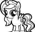 Widescreen coloring cute pony for poop smartphone high resolution pony page