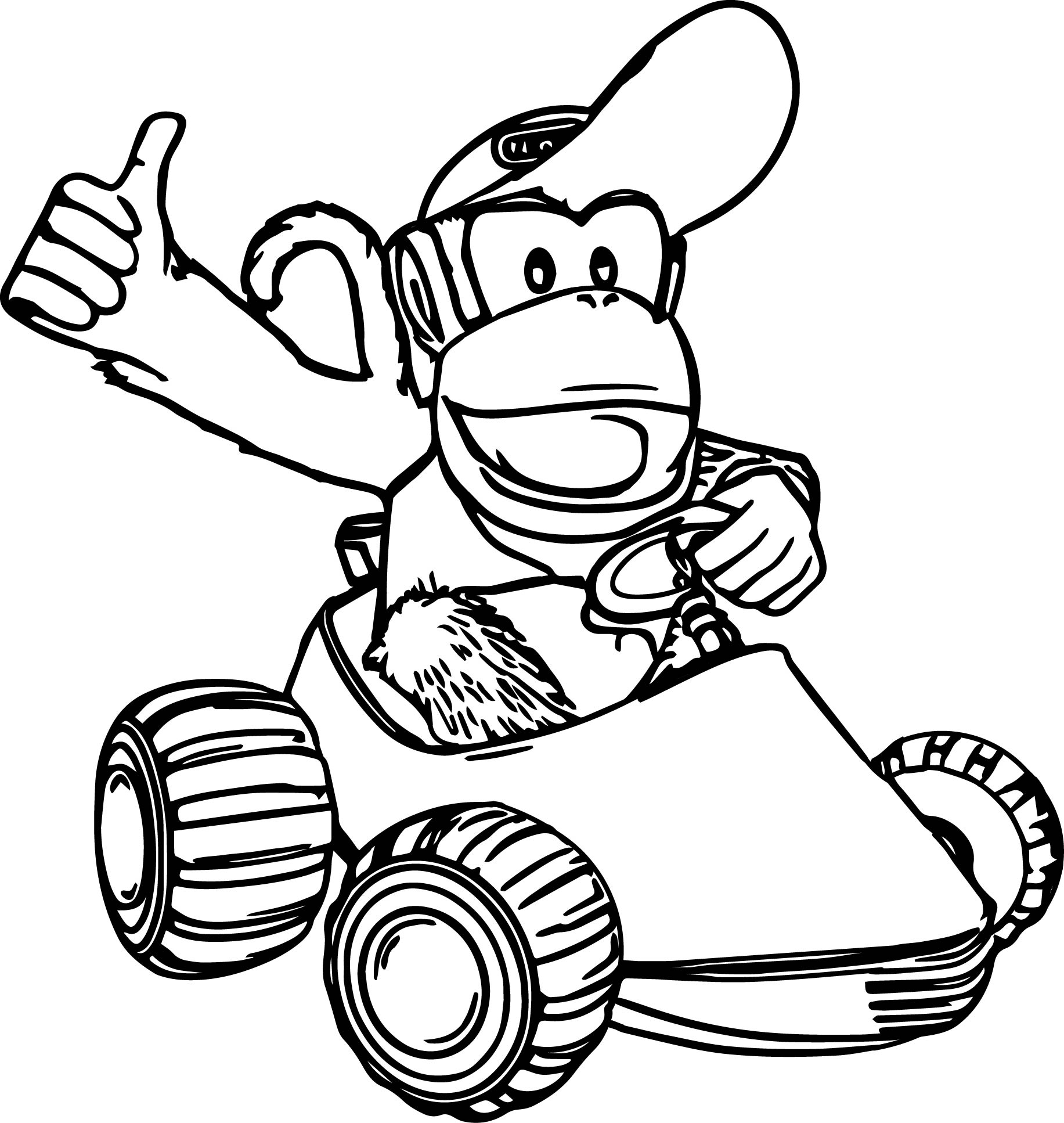Diddy Kong Coloring Pages