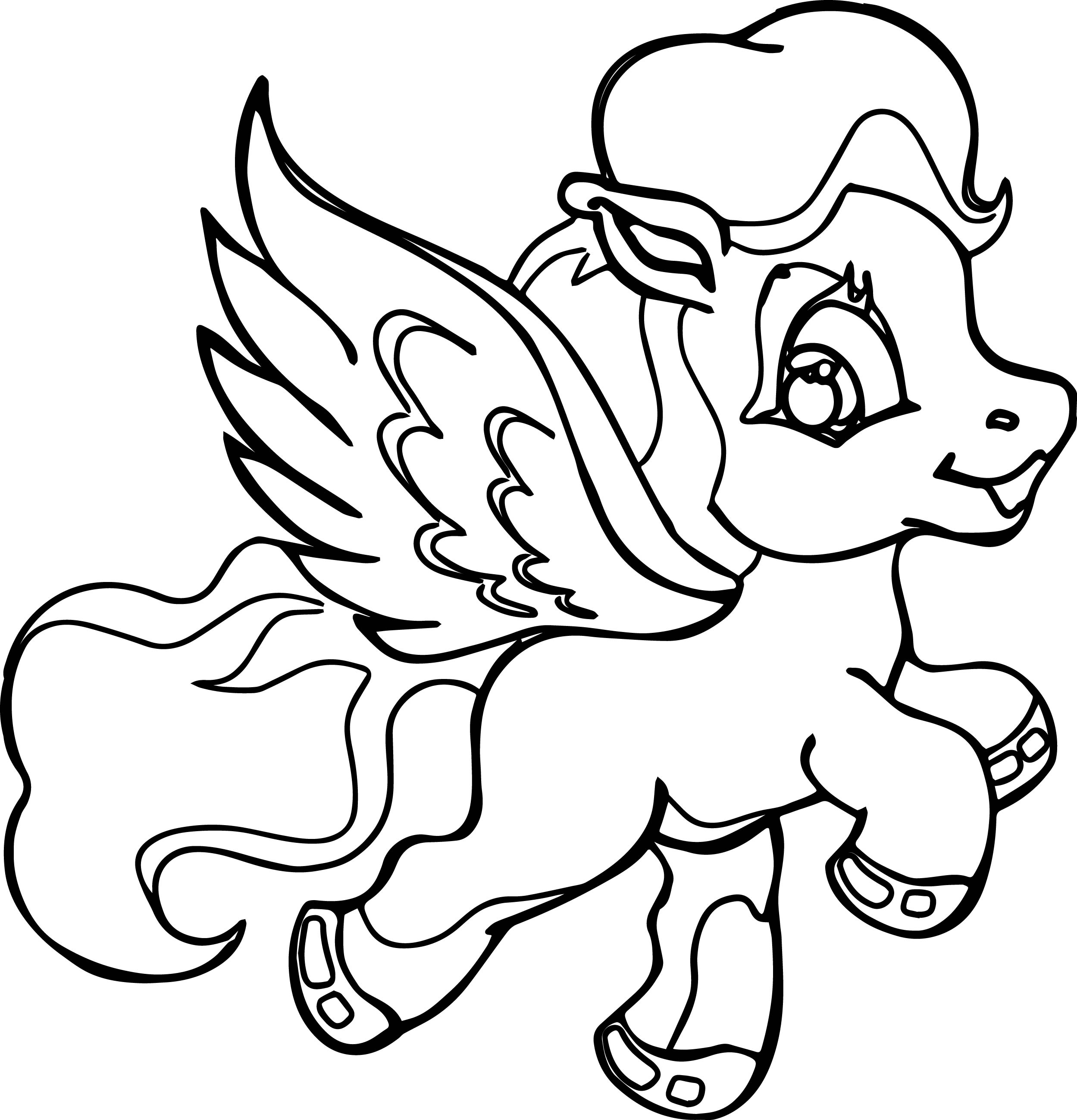 My Little Pony That Flies Coloring Page