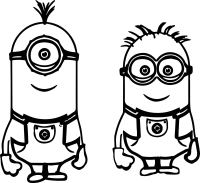 Minion Bob Coloring Pages Cute Sketch Coloring Page