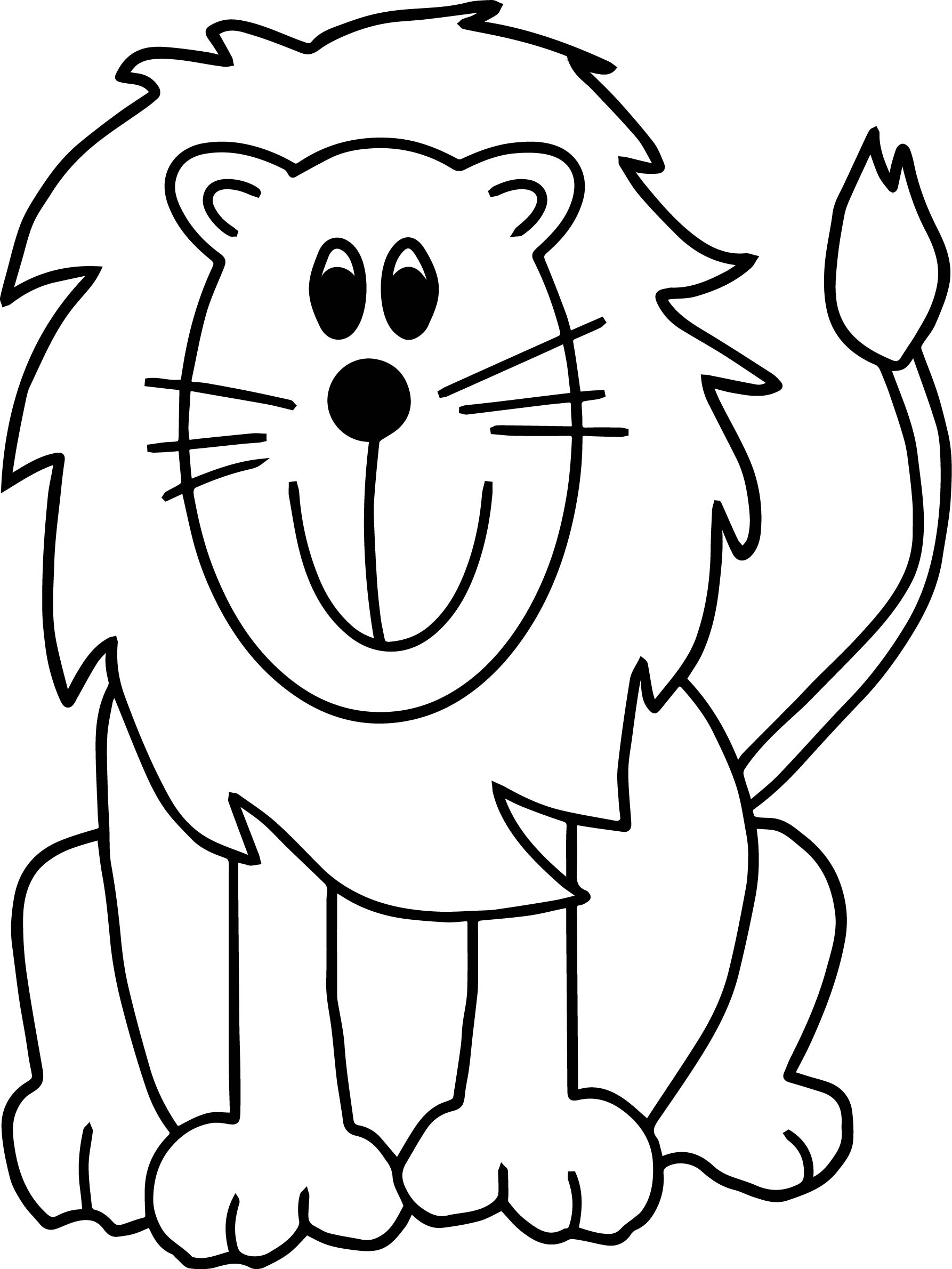 Lion Zoo Coloring Page