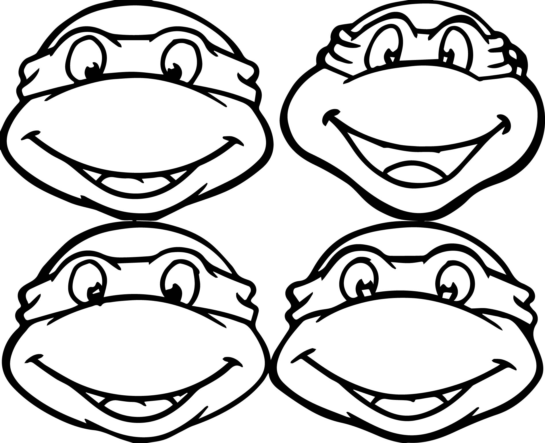 Ninja Turtle Coloring Pages Mask