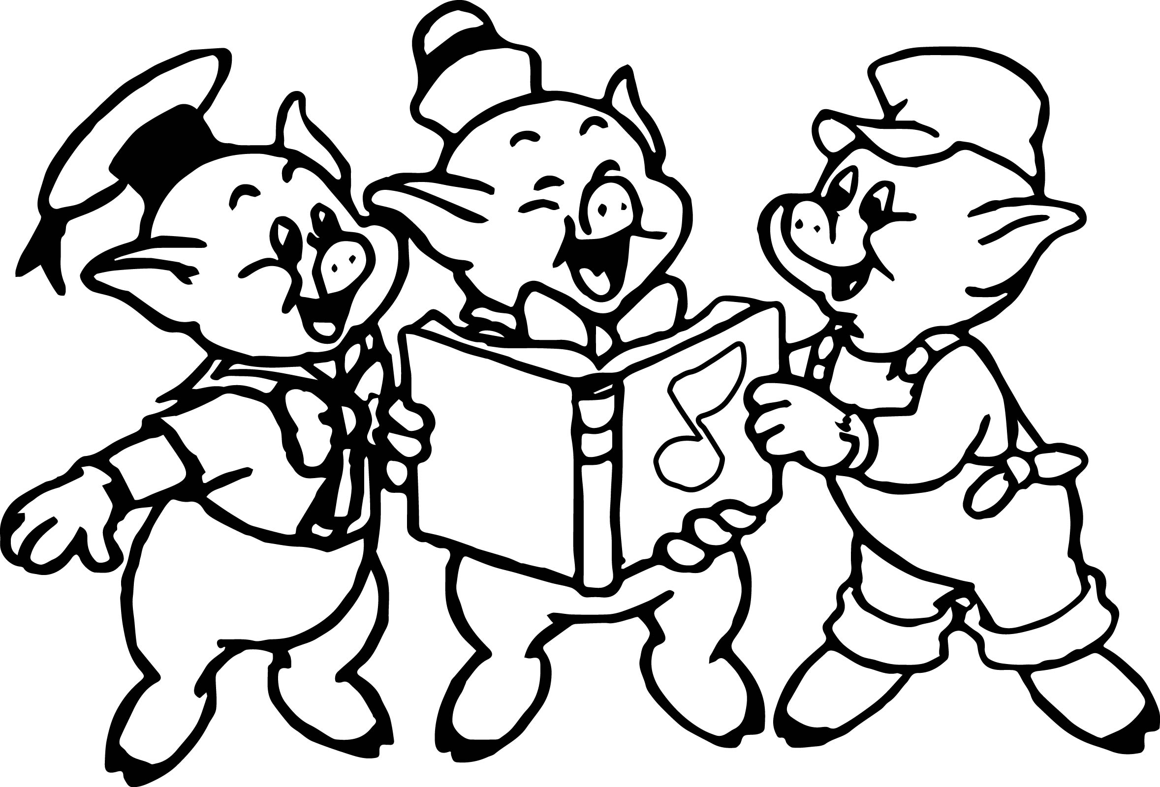 Three Pigs Page Printable Coloring Pages