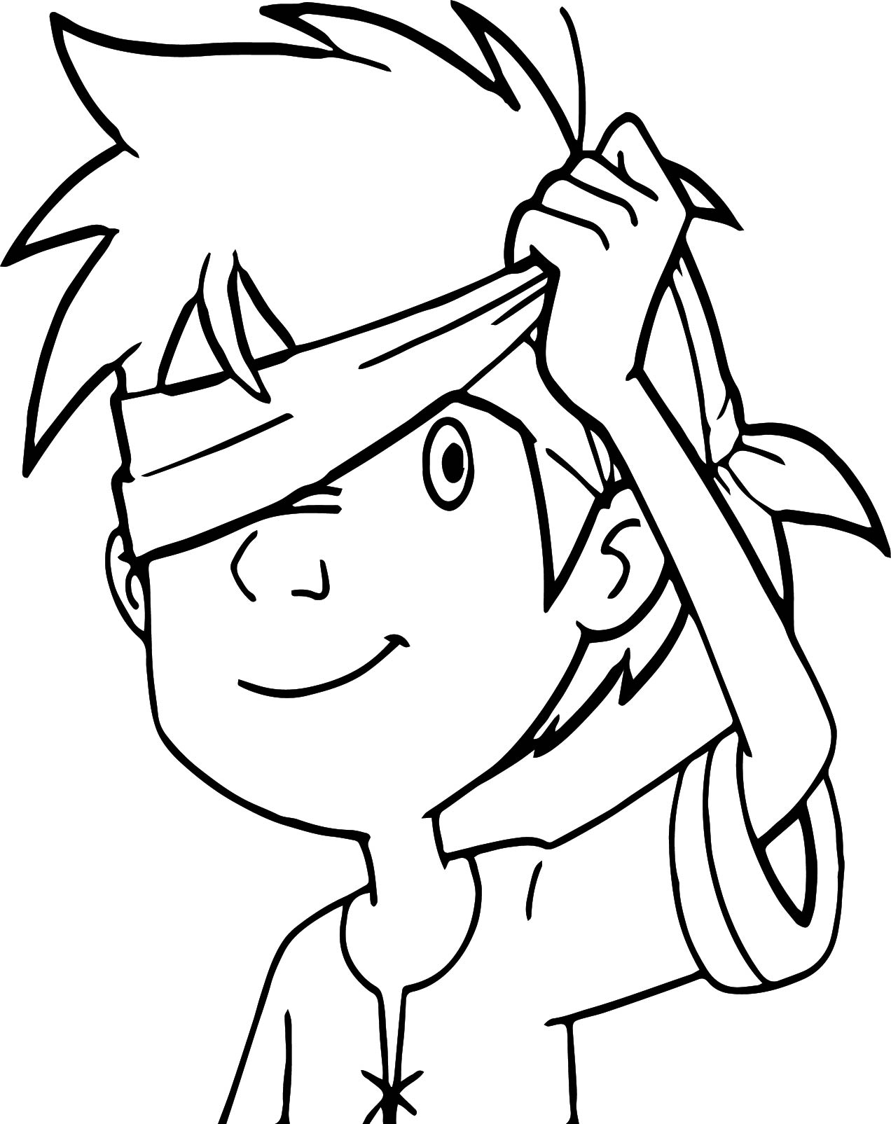Trenk The Little Knight Hide And Seek Coloring Page