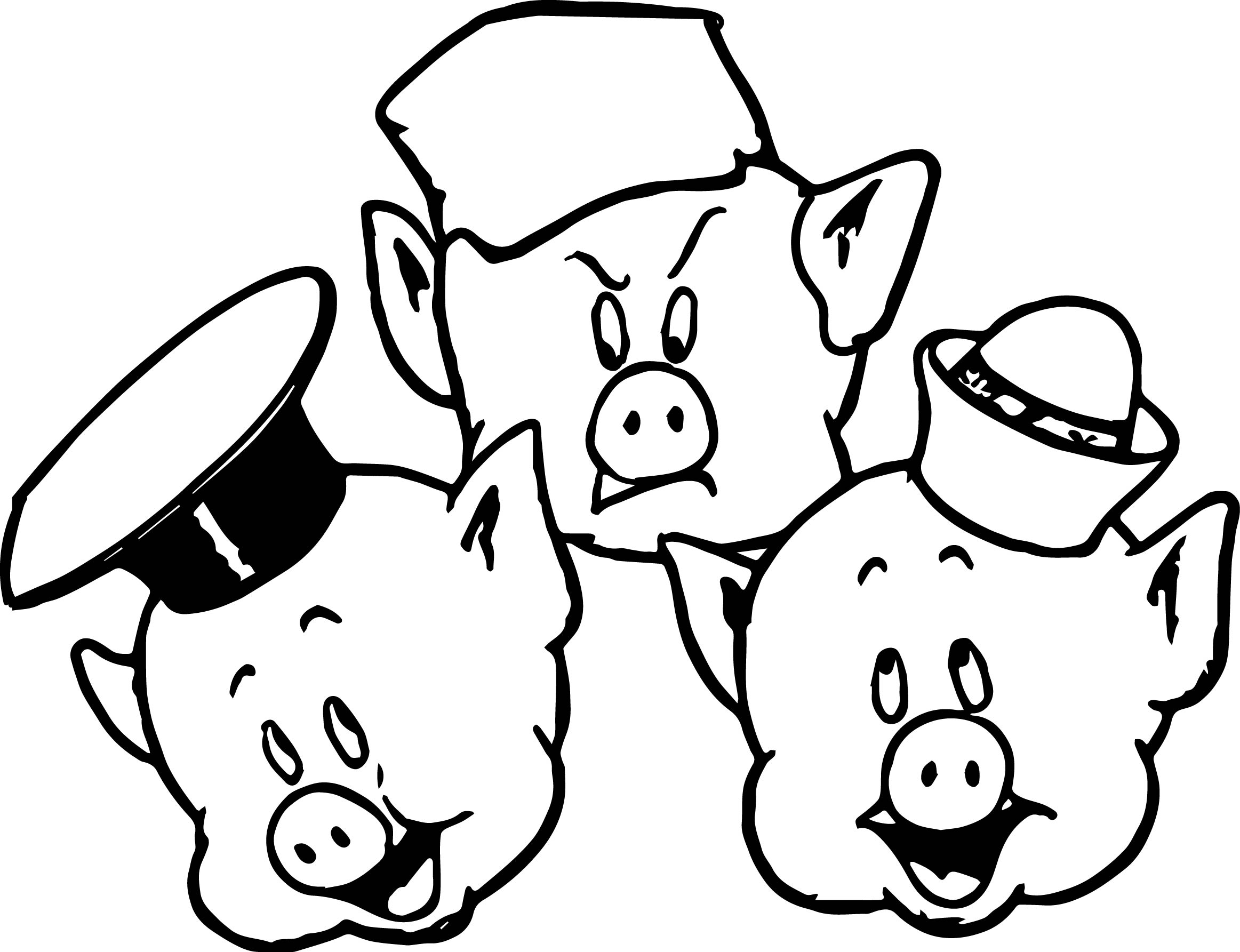 89 Coloring Pages Pigs