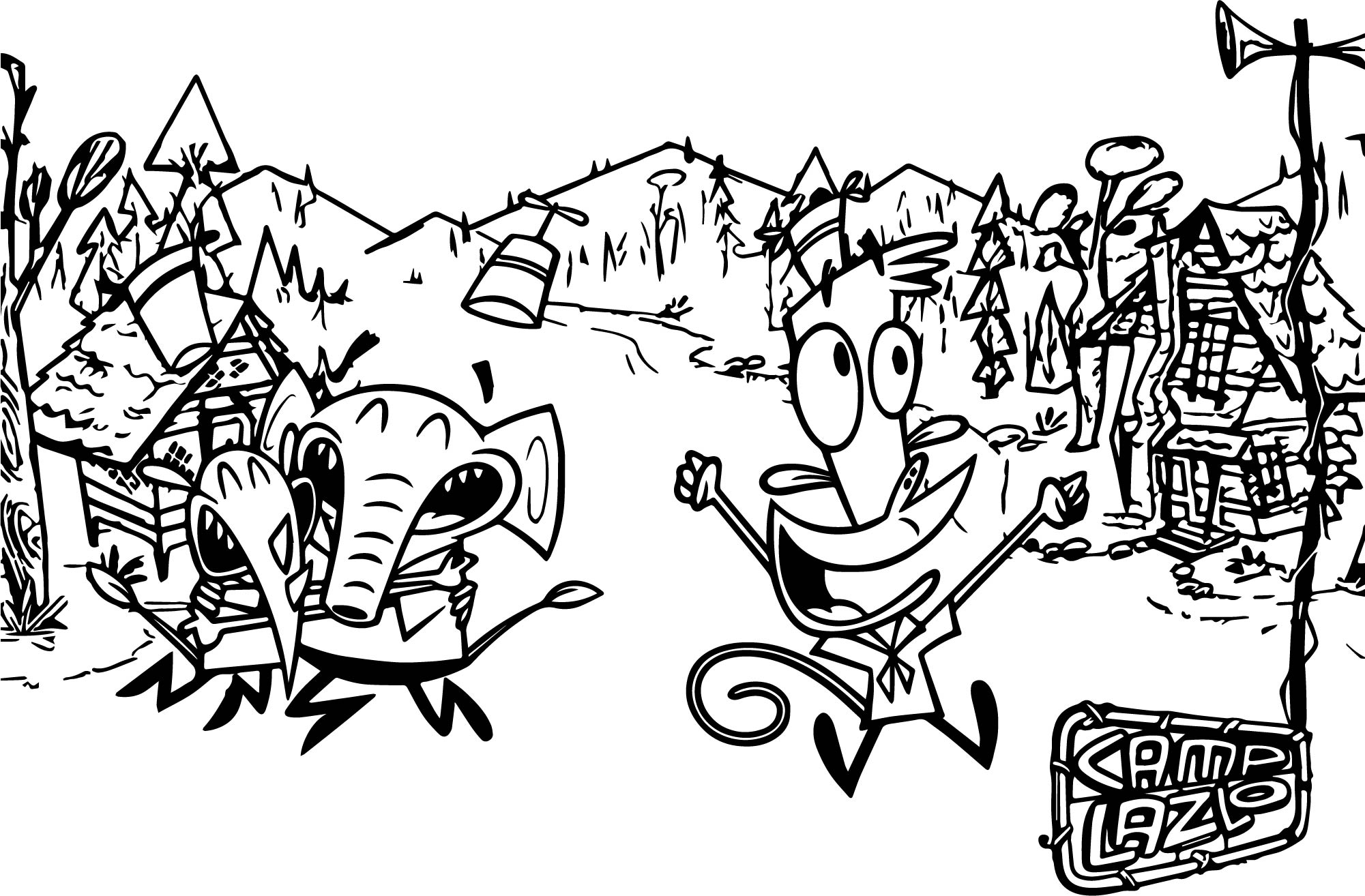 Camp Lakebottom Coloring Coloring Pages Coloring Pages