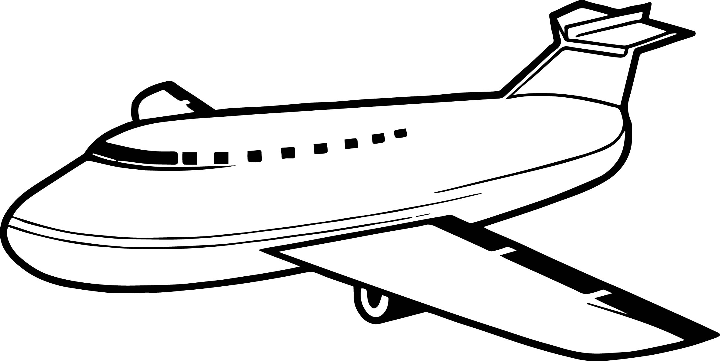 Get Airplane Coloring Page