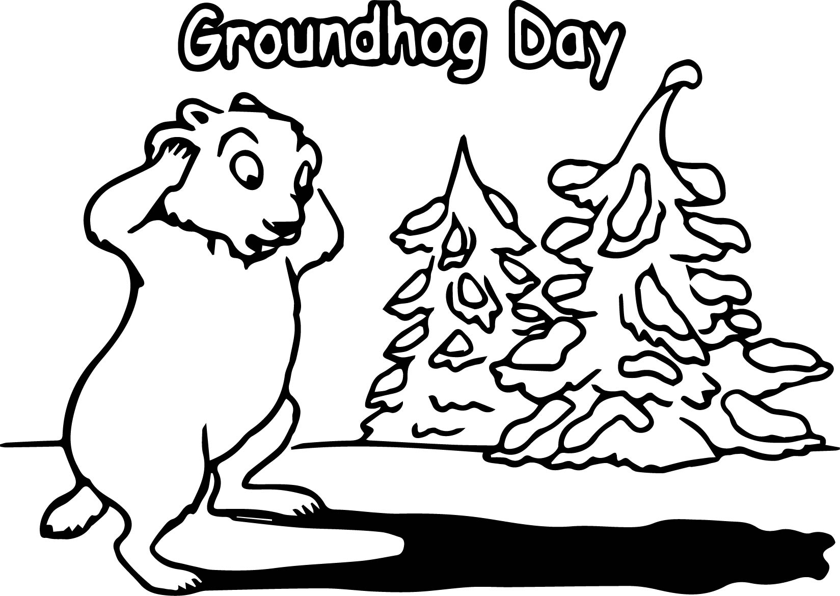 Groundhog Day Coloring Page Wecoloringpage