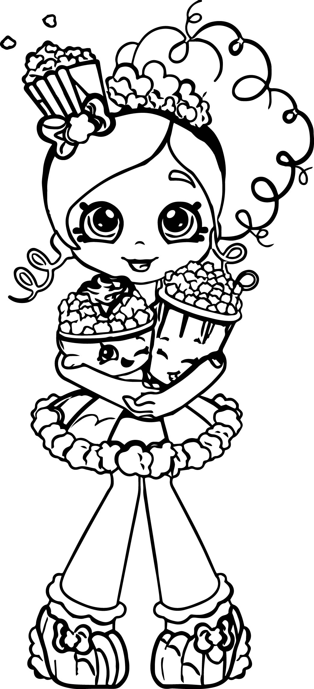 Shopkin Girl Coloring Pages