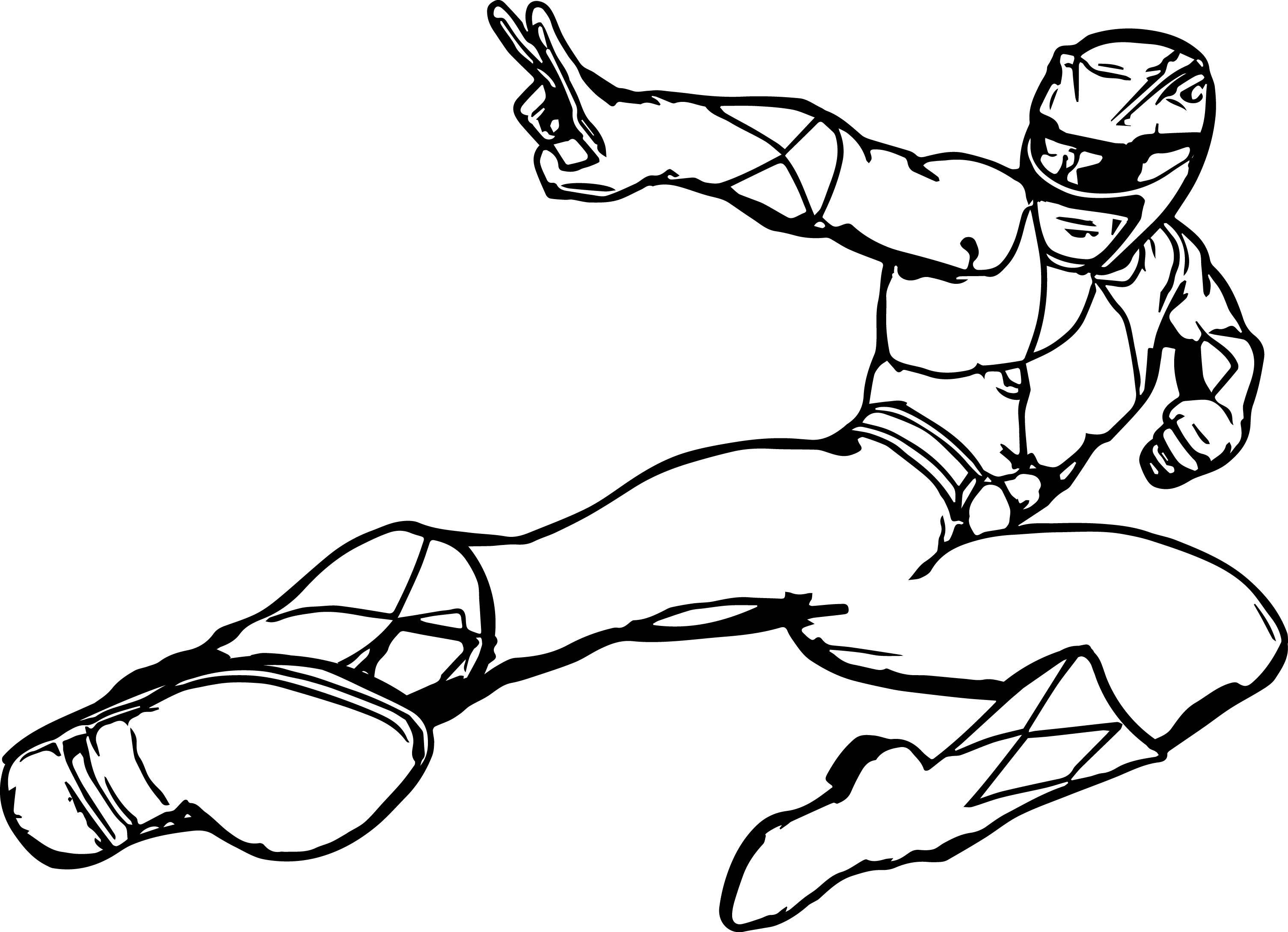 Power Rangers Kick Coloring Page