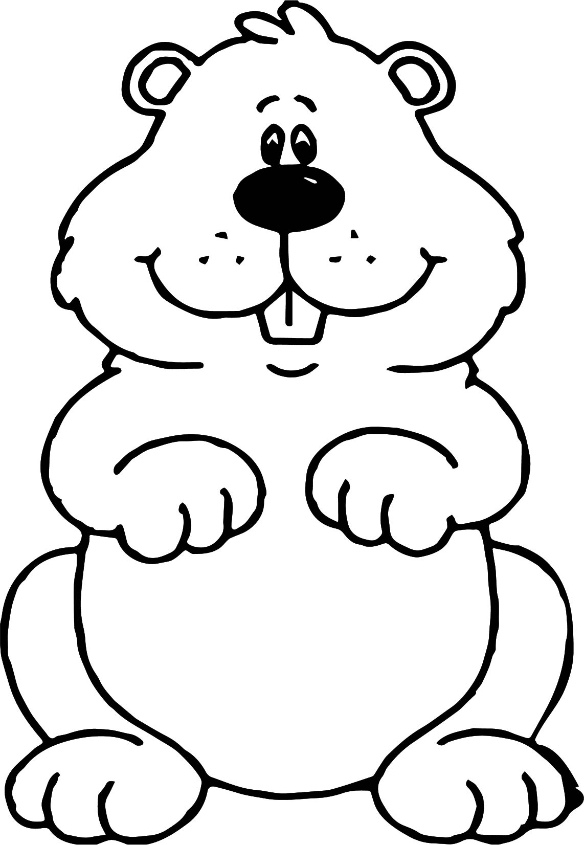 Small Groundhog Coloring Page