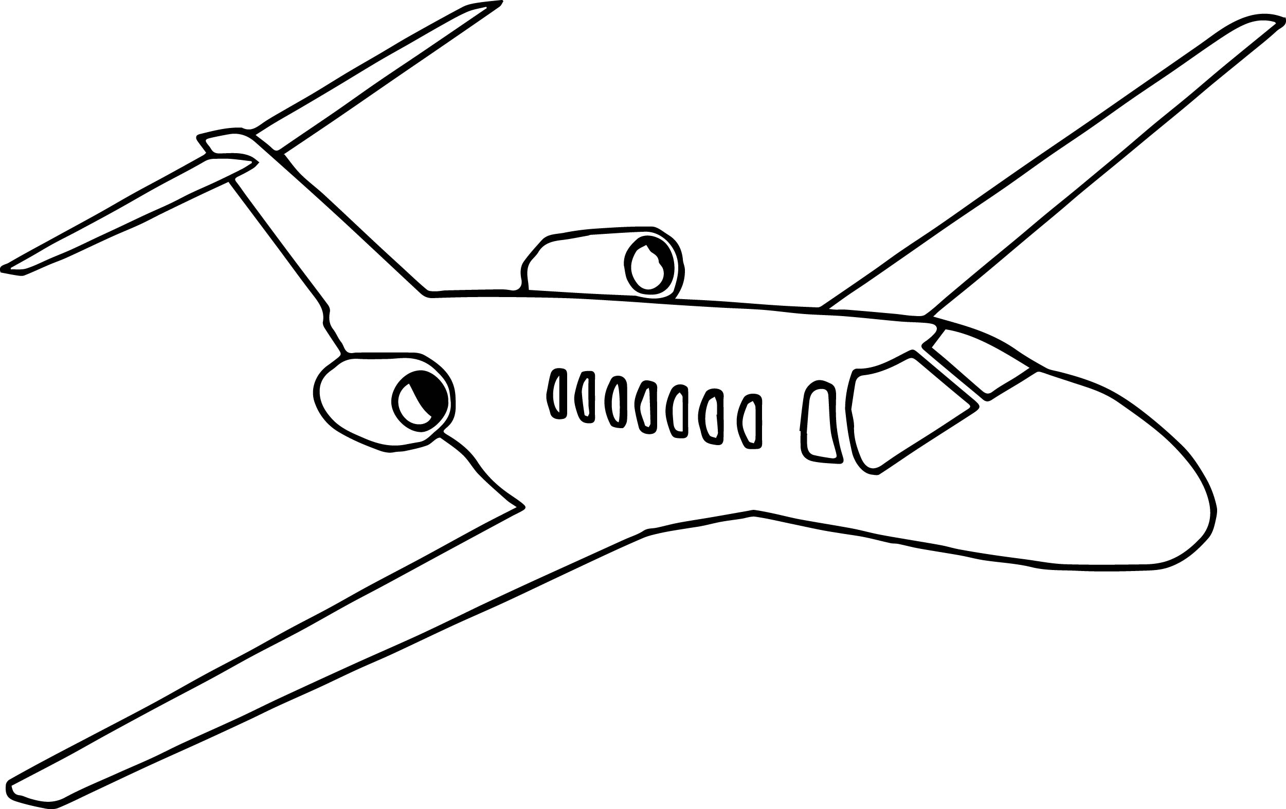 The Color Airplane Coloring Page