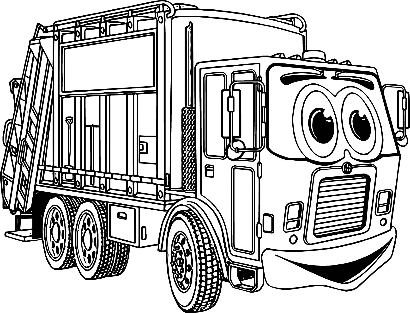 Toyota Truck Cartoon Coloring Coloring Pages