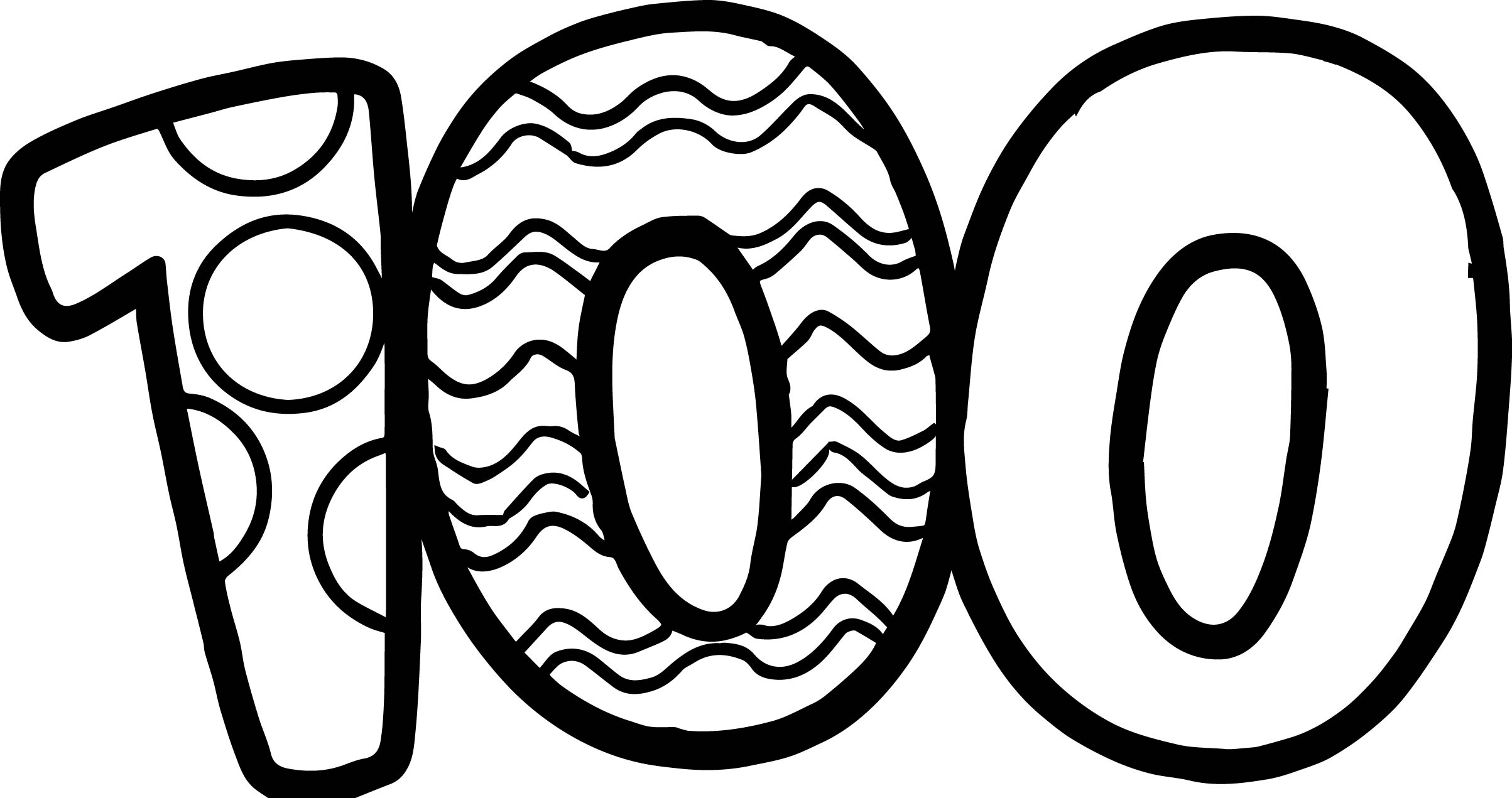 100 Days Of School Number Coloring Page