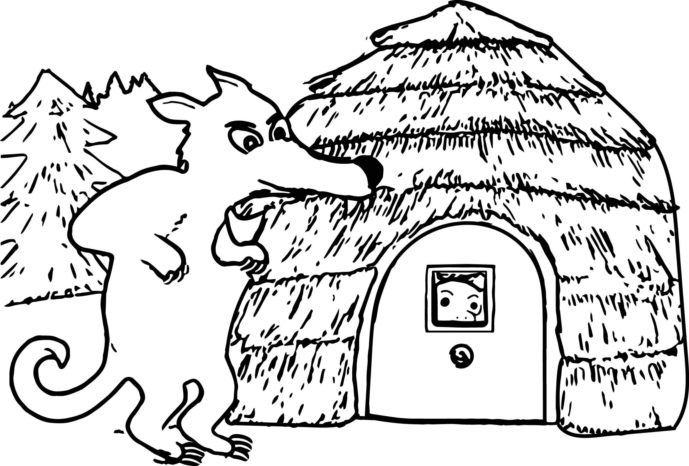 Three Little Pigs Wolf Sheets Coloring Pages