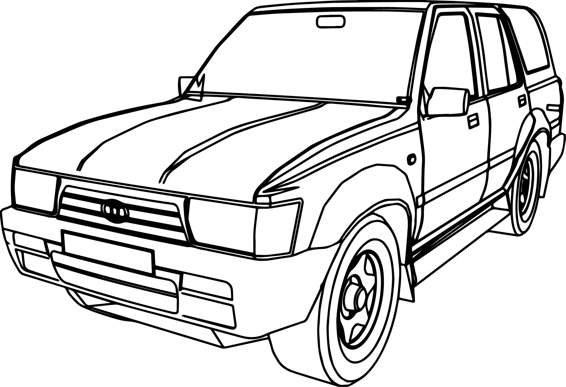 Jeep Wagoneer Coloring Pages Sketch Coloring Page