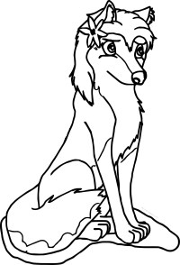 Aleu Alpha And Omega Wolf Coloring Page | Wecoloringpage.com