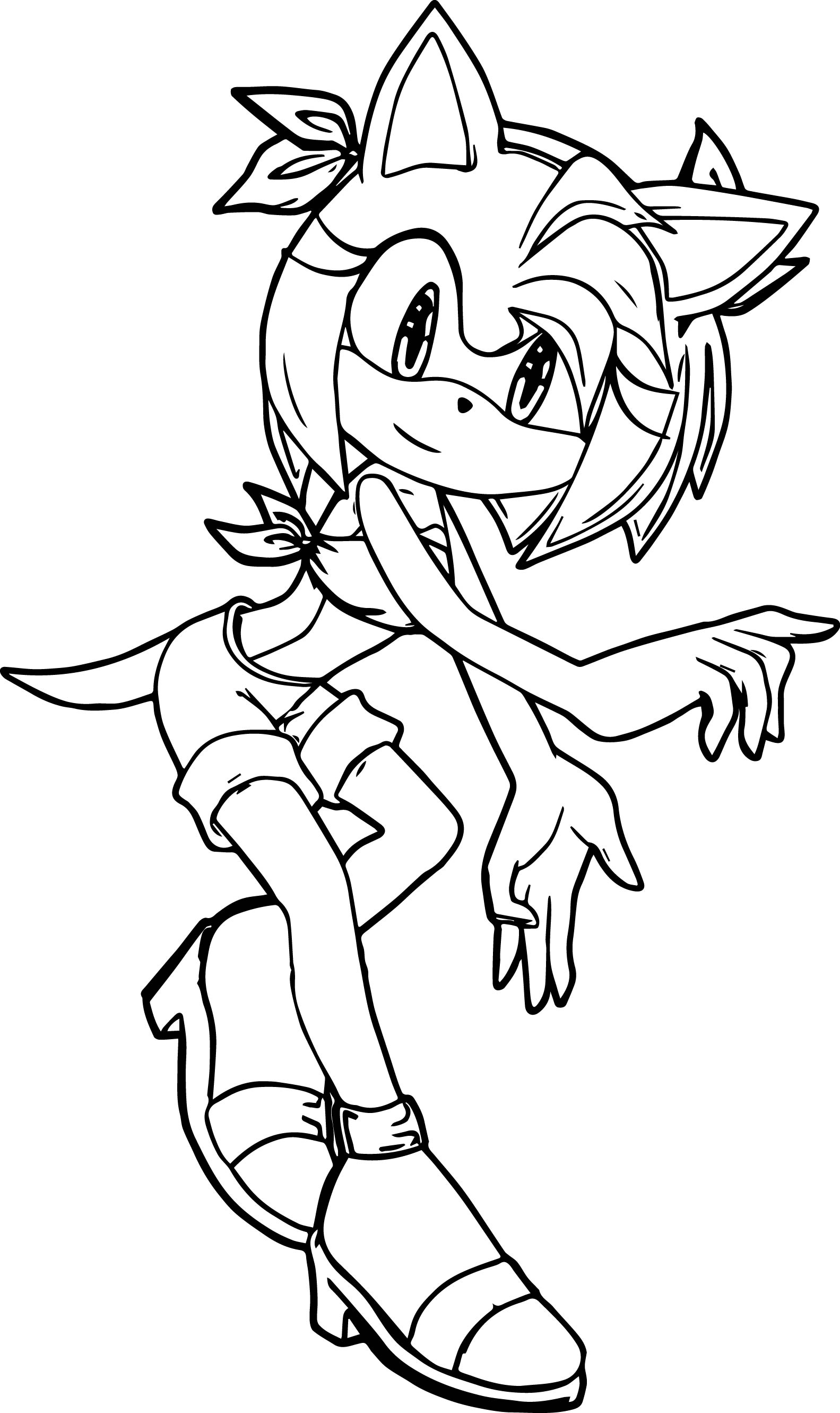 Amy Rose Coloring Page Wecoloringpage