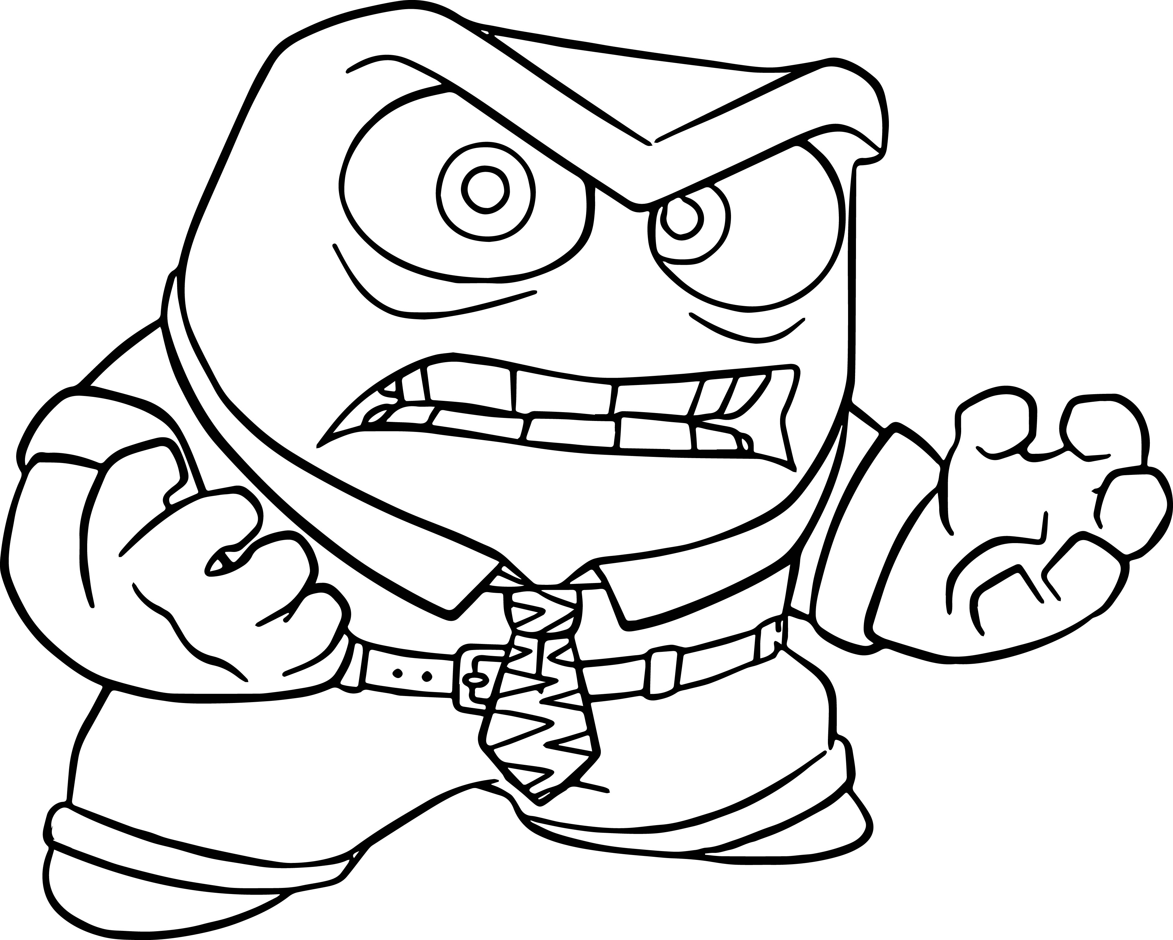 Anger Very Angry Coloring Pages