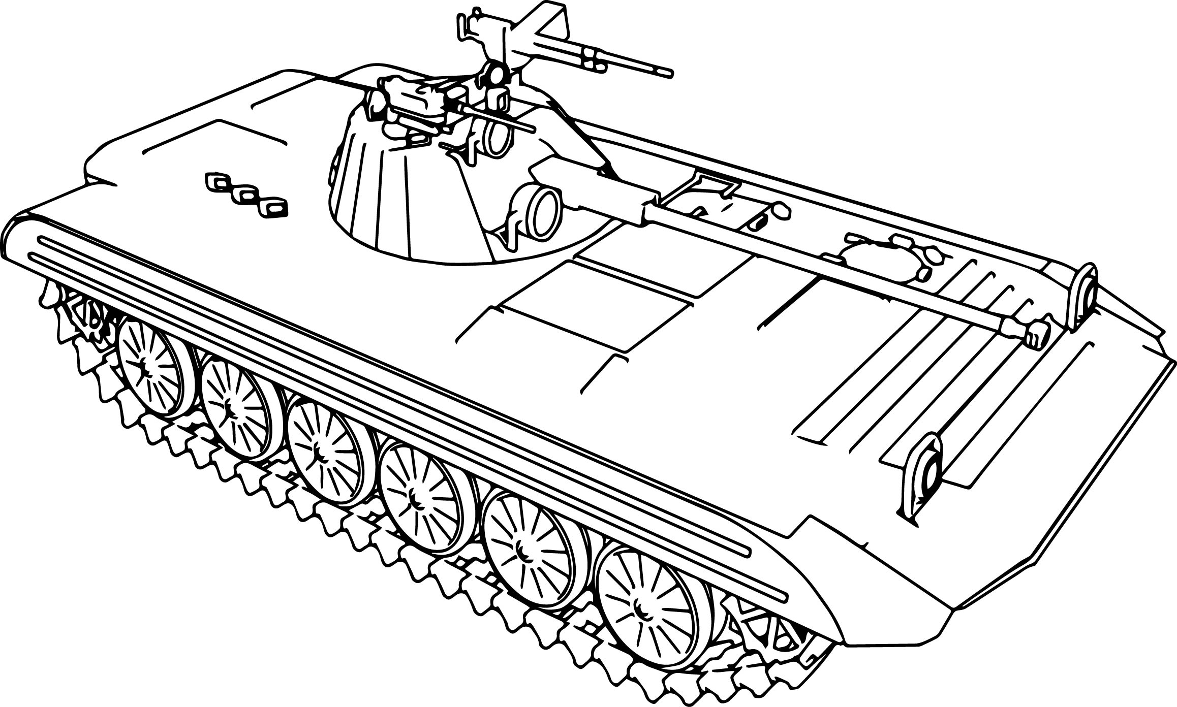 Tank Coloring Page