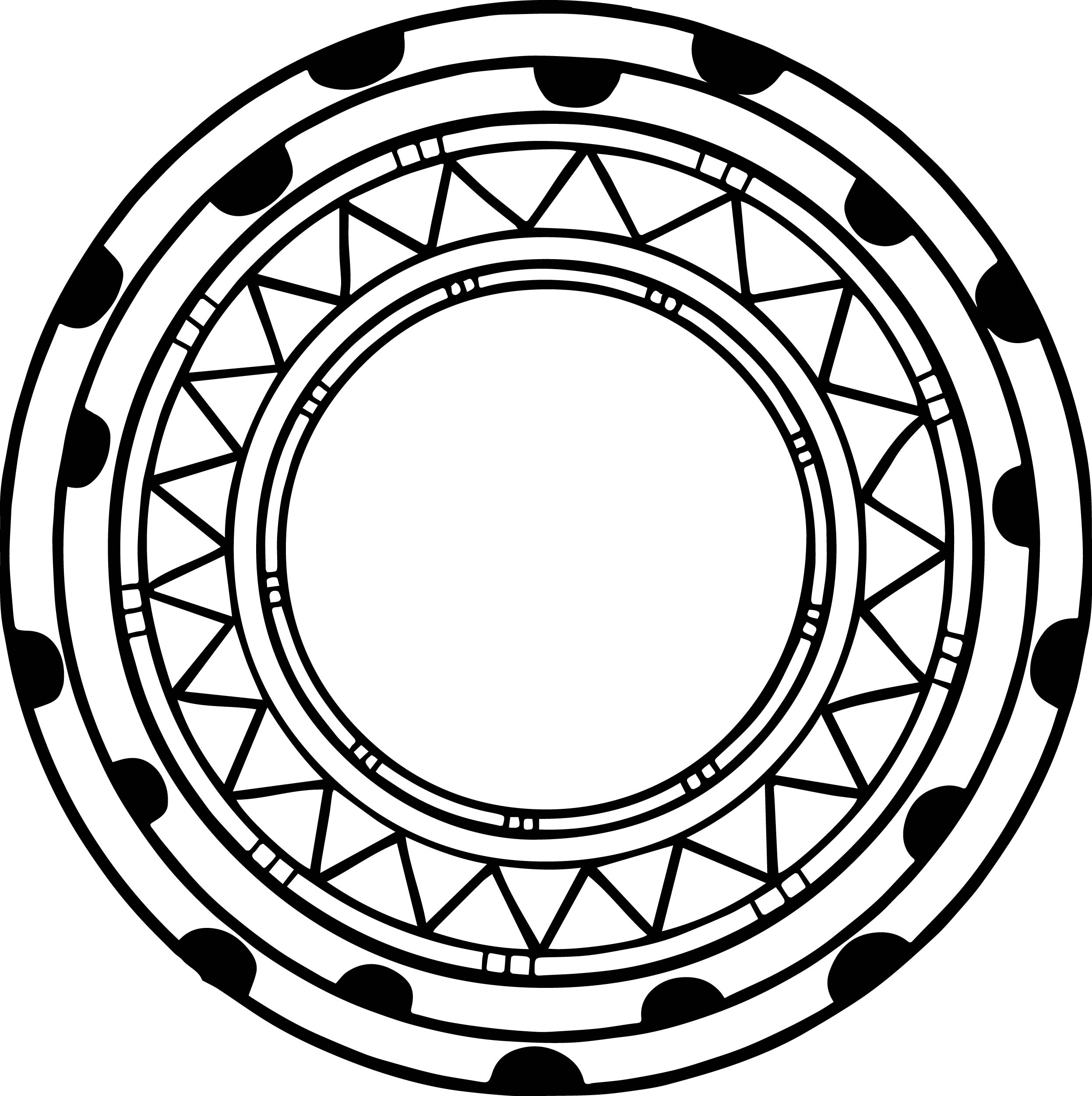 Coloring Heart Circle Coloring Pages