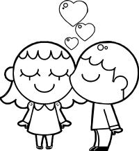Best Friends Boy And Girl Coloring Page | Wecoloringpage.com