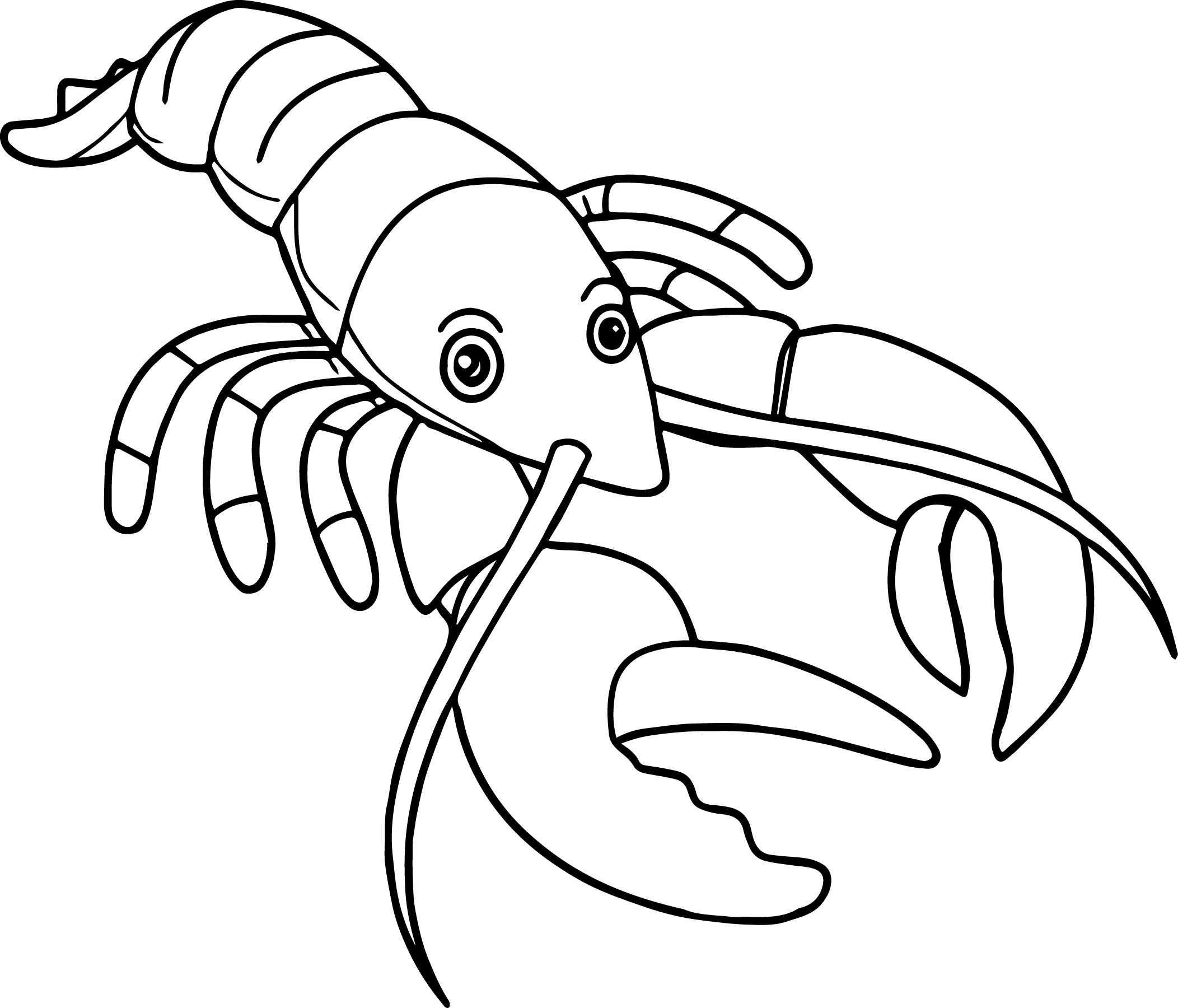 Lobster Coloring Page