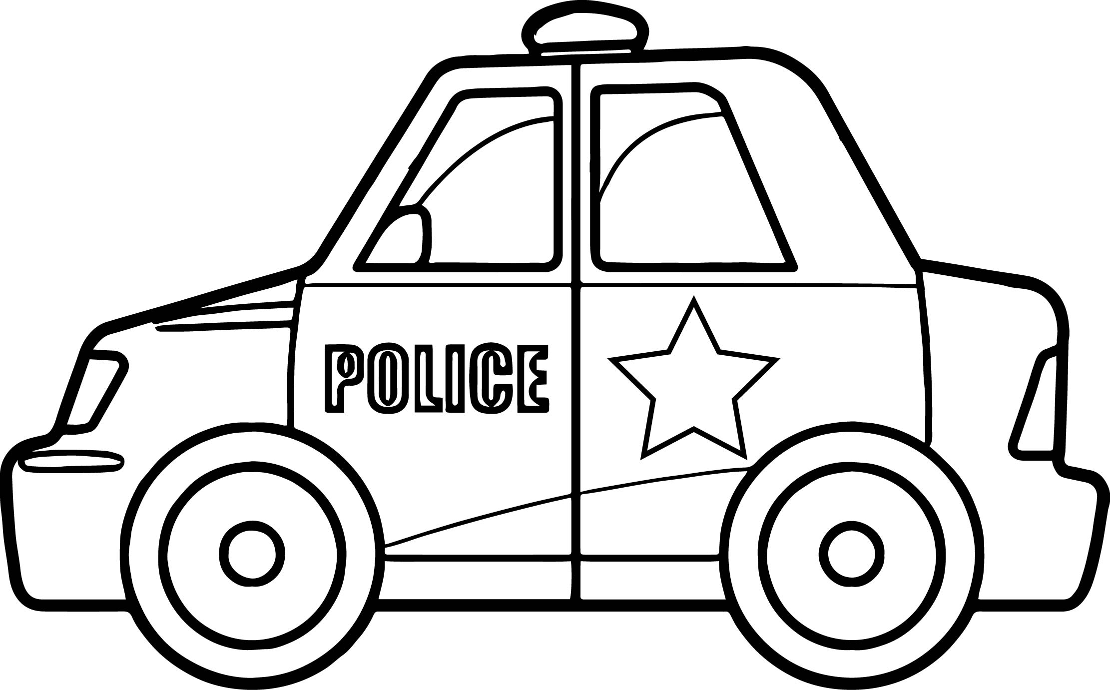 Super Police Car Coloring Page Wecoloringpage