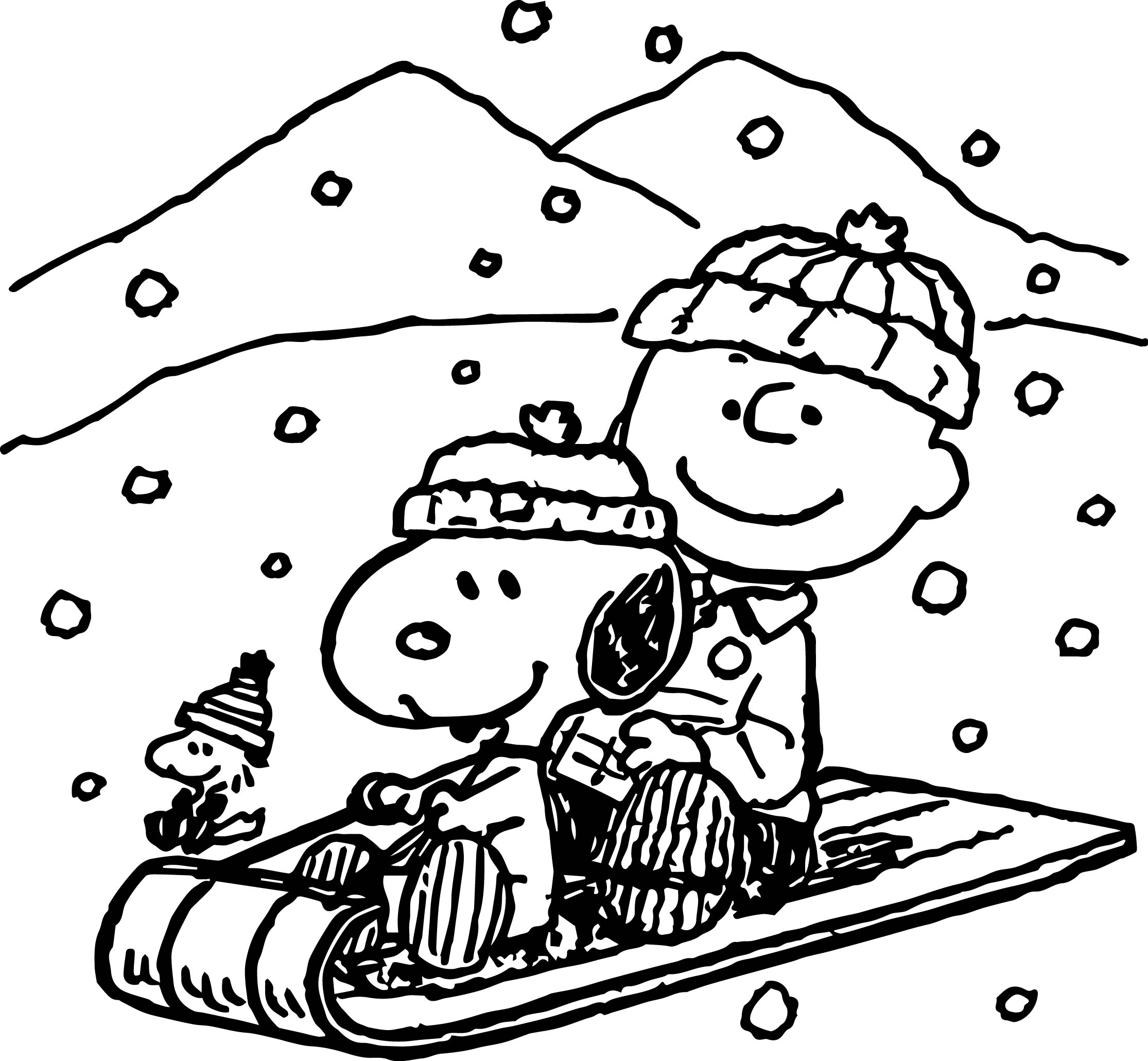 Snoopy And Dog House Coloring Pages Sketch Coloring Page