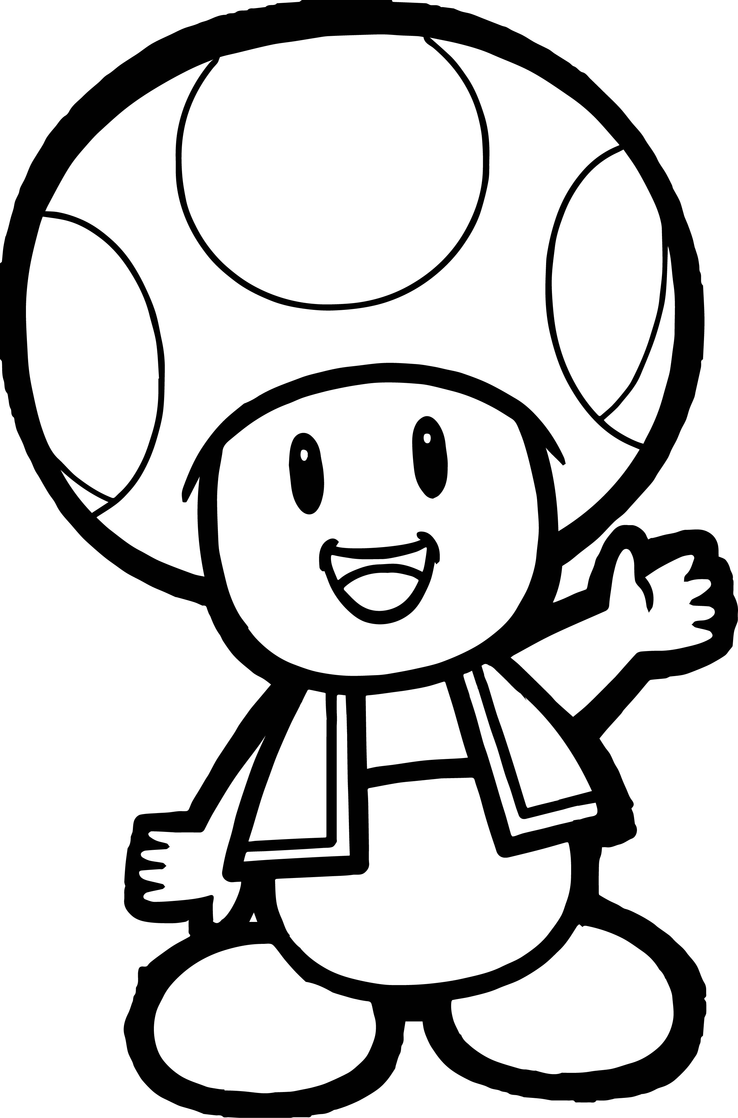 Toad Mario Coloring Pages Printable Coloring Pages