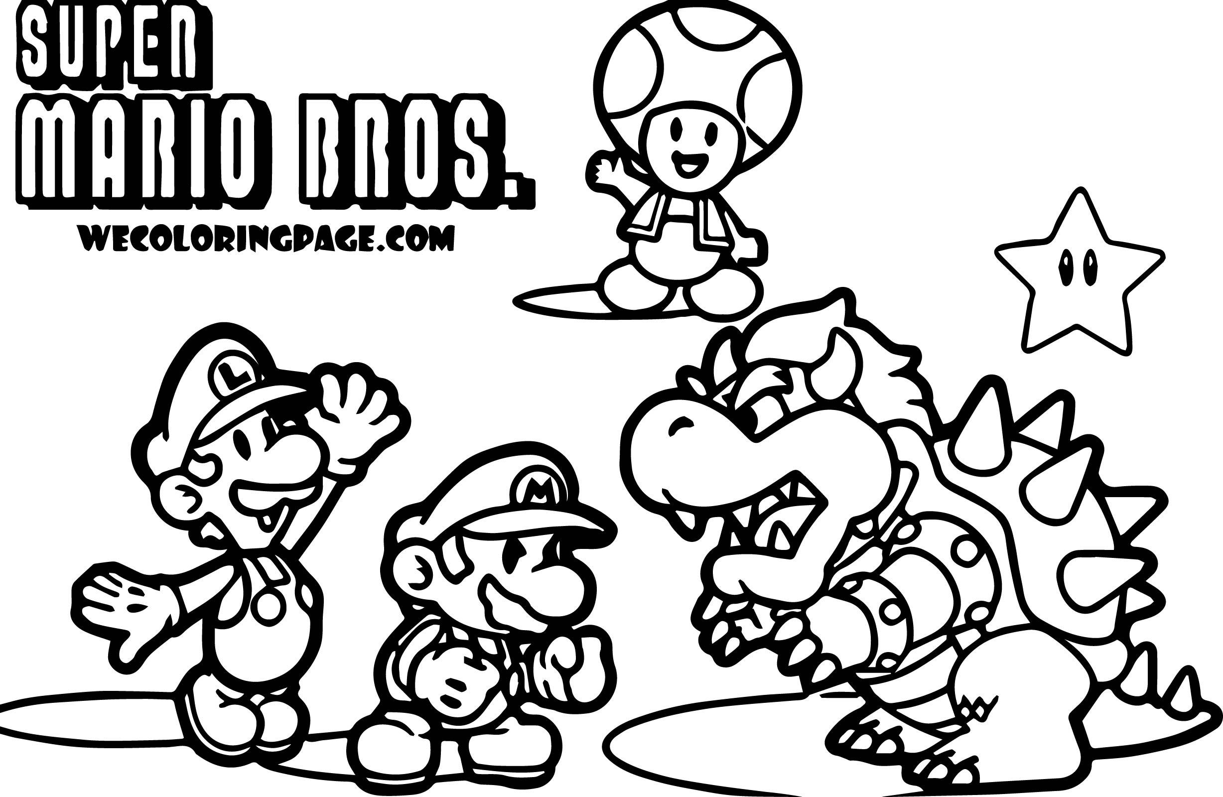 Super Mario Pack Scene Super Mario Coloring Page