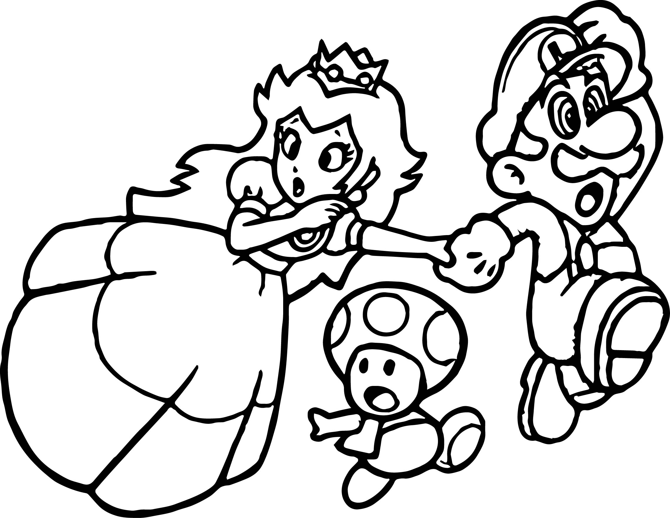 Super Mario Princess Mushroom Coloring Page Wecoloringpage