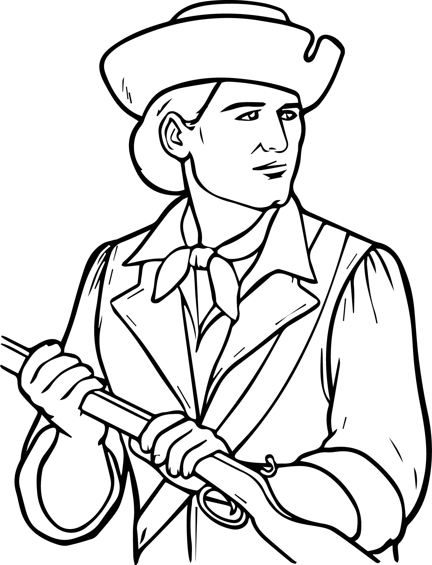 Usa Printables The Minutemen Coloring Pages America Revolution Coloring Page