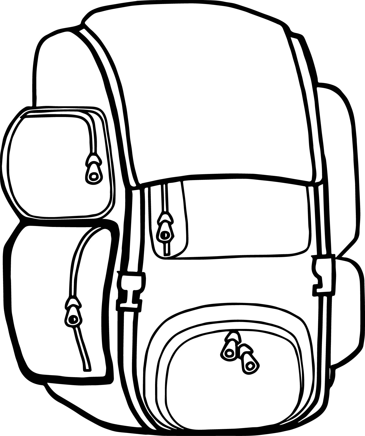 Backpack Free Images Camp Camping Coloring Page
