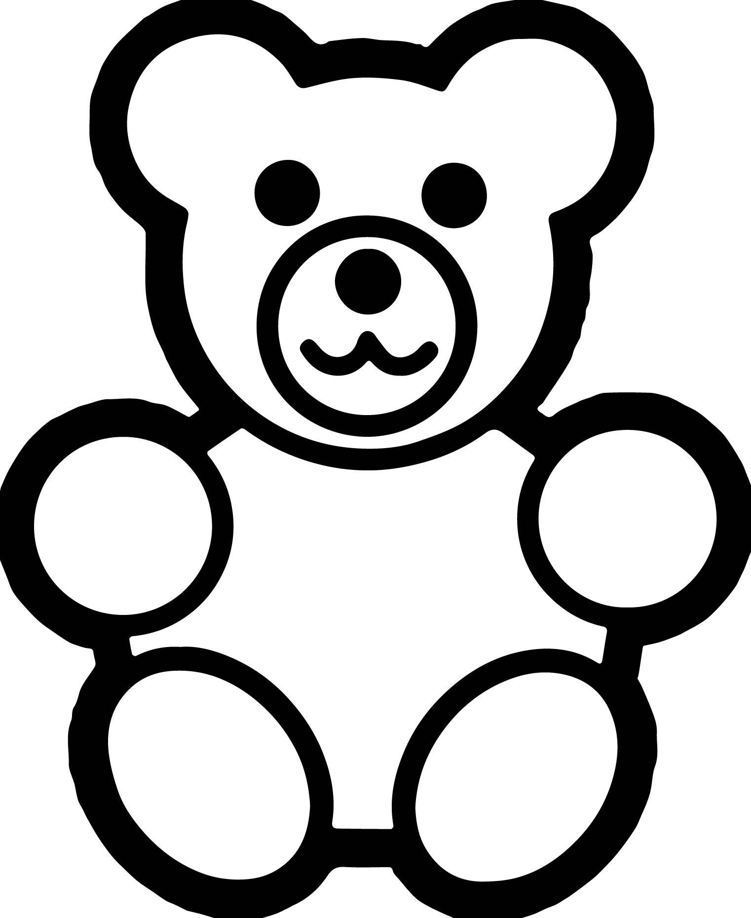Basic Preschool Bear Coloring Page
