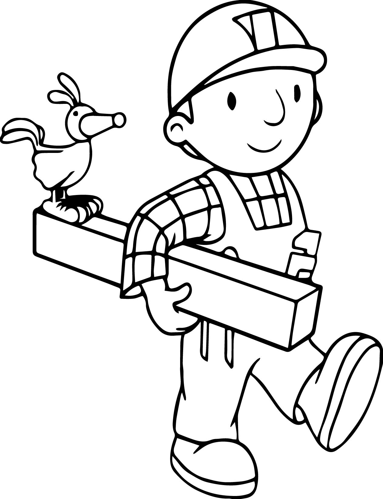 Bob The Builder And Bird Coloring Page