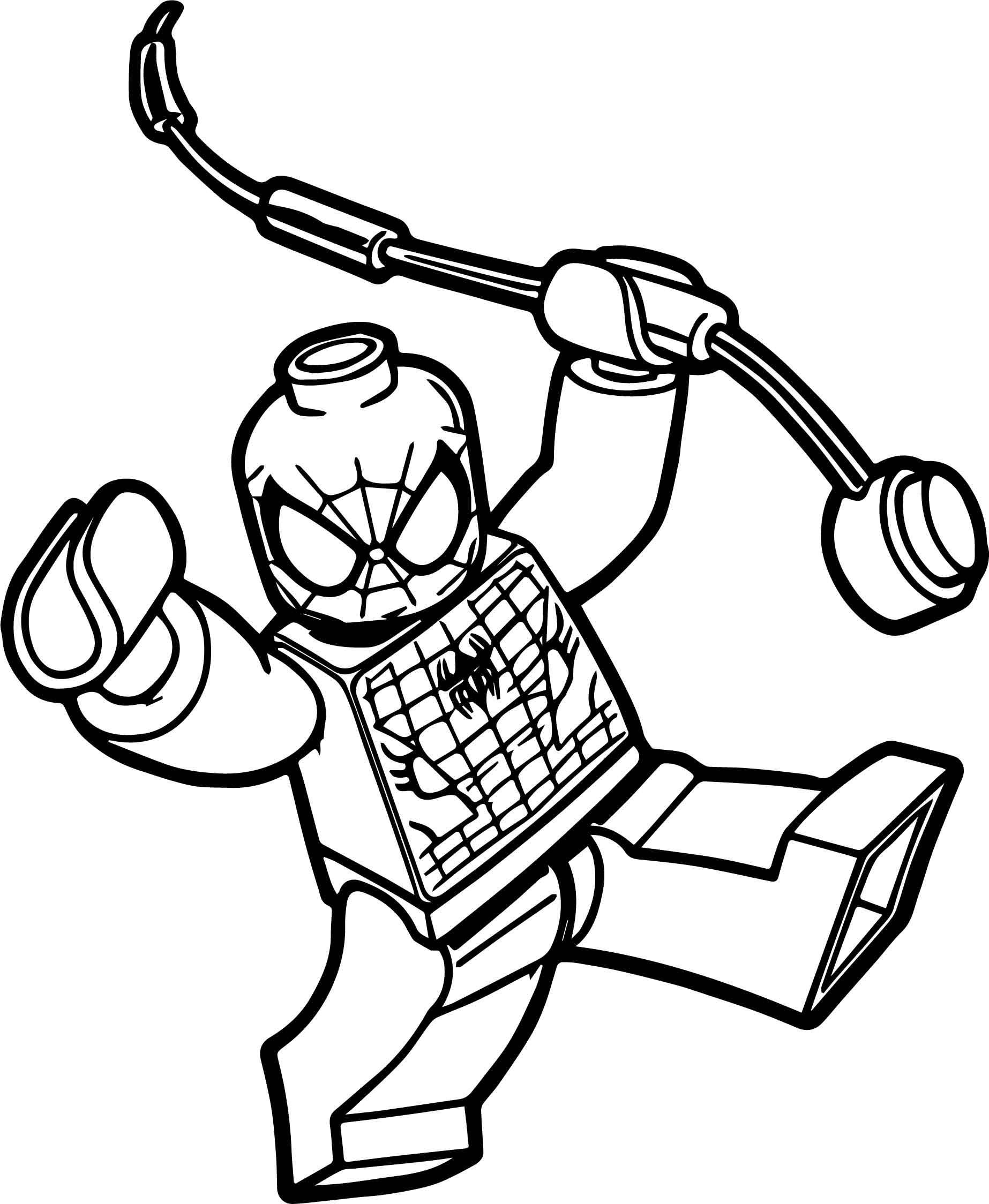 Box Spiderman Lego Spider Man Coloring Page Wecoloringpage